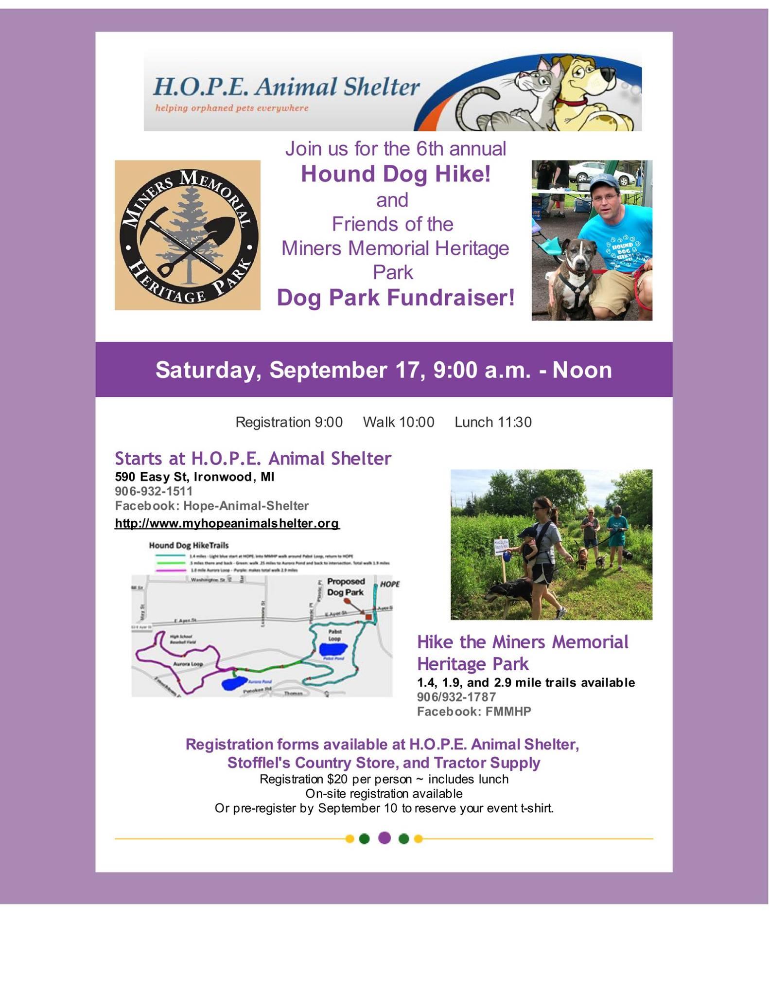 6th Annual Hound Dog Hike - BPLA