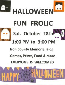 Halloween Fun Frolic @ Iron County Memorial Building   Hurley   Wisconsin   United States