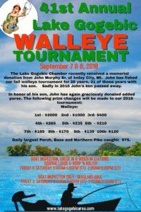 41st Annual Lake Gogebic Walleye Tournament @ Lake Gogebic | Marenisco | Michigan | United States